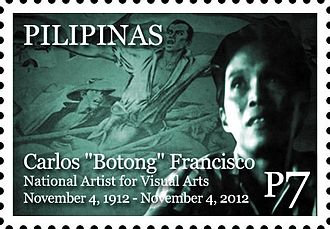 Botong Francisco - Francisco on a 2012 stamp of the Philippines