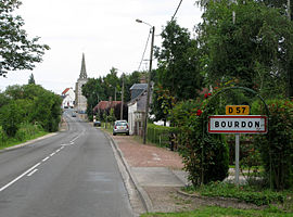 The road into Bourdon