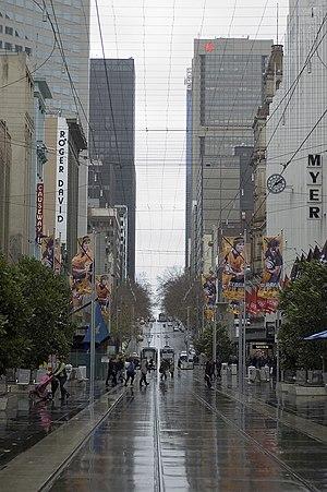 Bourke Street, Melbourne - Bourke Street Mall, between Swanston Street and Elizabeth Street looking west