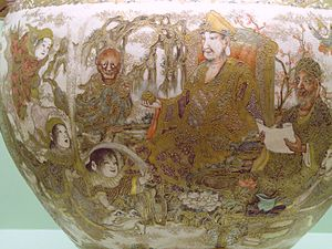 Satsuma ware - Porcelain bowl detail c. 1870