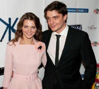 Elizaveta Boyarskaya - Elizaveta with her husband Maksim Matveyev in 2010