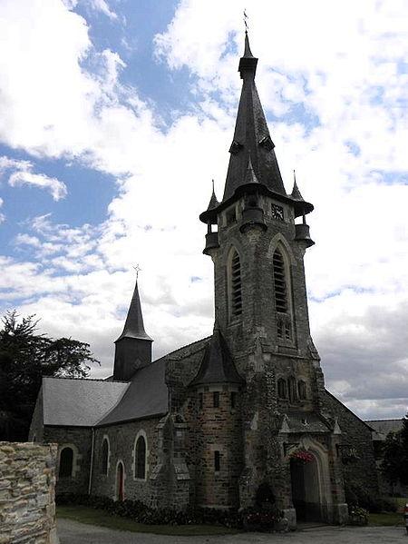 Église Saint-Melaine à Brain-sur-Vilaine, section de commune de La Chapelle-de-Brain (Ille-et-Vilaine, Bretagne, France).