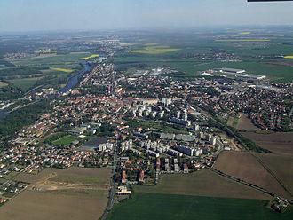 Brandýs nad Labem-Stará Boleslav - Aerial view