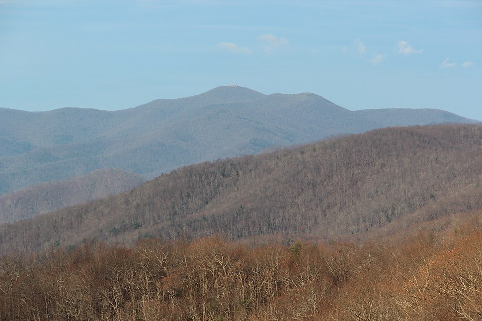 Brasstown Bald viewed from the Russell–Brasstown Scenic Byway
