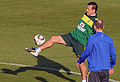 Brazil national football team training at Dobsonville Stadium 2010-06-03 6.jpg