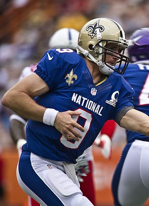 Drew Brees - Brees at the 2013 Pro Bowl