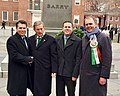 Brenden Boyle, Kevin Boyle, Joe McHugh and Enda Kenny at Independence Hall.jpg
