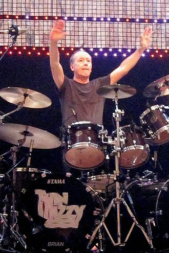 Brian Downey (drummer) - Downey performing with Thin Lizzy at Aberdeen Music Hall, 6 January 2011