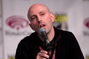 Brian K. Vaughan - Vaughan speaking on a panel at the 2013 WonderCon.