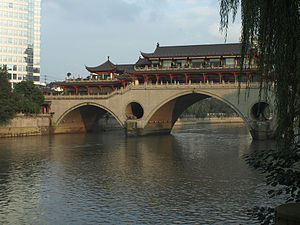 Brücke / Bridge, City of Chengdu, Sichuan prov...