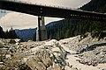 Bridge construction with 'West Coast Steel Work' on it above the Longmire in Mount Rainier National Park. Image Number WASO Co (f8f124d9b3694c878c1109be83090037).jpg