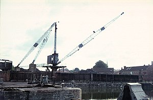 Port of Bridgwater - A crane located on the southside of Bridgwater Docks, 1968