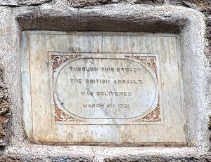 Siege of Bangalore - Image: British Plaque, Bangalore Fort