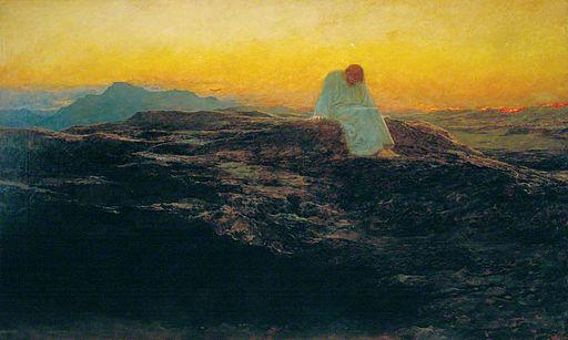 Briton Rivière - The Temptation in the Wilderness
