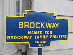 Official logo of Brockway, Pennsylvania