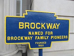 Brockway, Pennsylvania - Image: Brockway, PA Keystone Marker