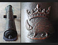 Bronze cannon of Louis XII with emblem 172mm 305cm 1870kg Algiers recovered in 1830.jpg