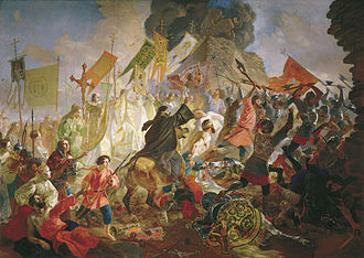 Pskov - Siege of Pskov by Stephen Báthory, by Karl Bryullov