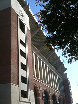 Bryant–Denny Stadium - Exterior of the new south end zone in 2010.