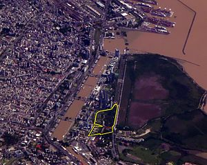 Puerto Madero Street Circuit - View of the location and surroundings of the circuit at the city for the Buenos Aires ePrix.