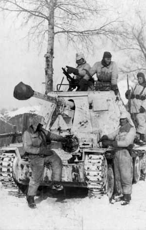 Third Battle of Kharkov - Soldiers of the 1st SS Panzer Division near Kharkov, February 1943