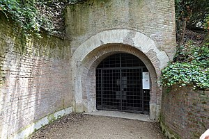 Villa Ada - Entrance today to Bunker Villa Savoia