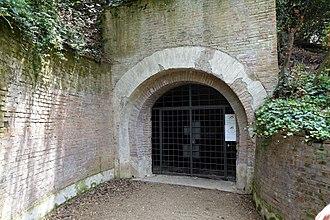 Villa Ada - Entrance today to Bunker Villa Savoia
