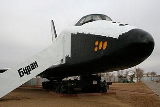 Baikonur Cosmodrome - Buran at Baikonur Museum