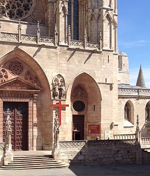 Extraordinary Jubilee of Mercy - The Holy Door of the Cathedral in Burgos, Spain, for the Holy Year of Mercy, 2015-2016.