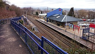 Burnley Manchester Road railway station - Image: Burnley Manchester Road 2015