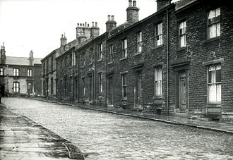 Bury - Terraced housing in Bury 1958