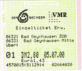 Bus ticket Sechser Bad Oeynhausen 2000.jpg