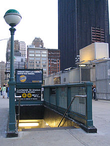 Photo of Cortlandt Street Station