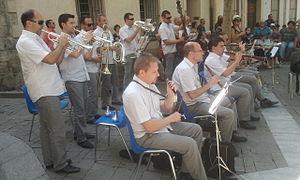 Cobla - Cobla Principal de Llobregat playing in Céret (2013)