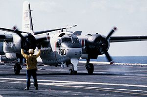 C-1A VRC-40 after landing on USS America (CV-66) 1983.JPEG