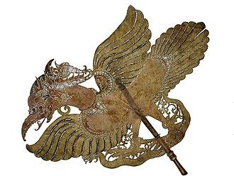 Kejawèn - A Wayang puppet representing Garuda
