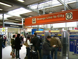 Orange Line (CTA) - The Orange Line's terminal at Midway International Airport
