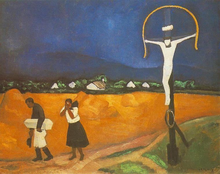 """Galerie Nationale de Budapest : """"Enterrement d'un enfant"""" de Dezső Czigány"""