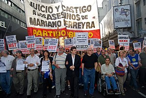 Murder of Mariano Ferreyra - Protest march claiming justice for Ferreyra