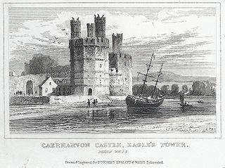 Caernarvon Castle, Eagle's Tower. North Wales