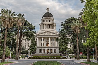 California Historical Landmark - The California State Capitol, one of the state's most visited Historical Landmarks