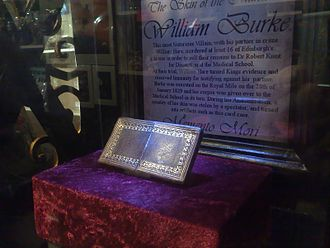 Robin Mitchell - Calling Card Case made out of the skin of 'bodysnatcher' William Burke