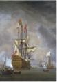 Calm- the English Ship 'Britannia' at Anchor .PNG