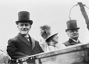 Charles Curtis - Senator Curtis (right) with President Coolidge and Grace Coolidge on their way to the Capitol building on Inauguration Day, March 4, 1925.
