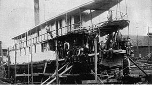 Camano (steamboat) - Image: Camano raised after sinking