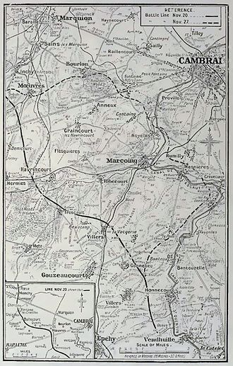 Battle of Cambrai (1917) - Image: Cambrai area 1917