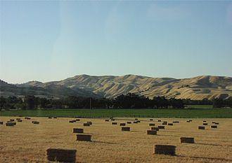 Capay Valley - Capay Valley hay harvest.