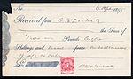 Cape of Good Hope postage stamp on 1895 receipt.jpg
