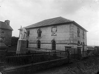 Capel Gwynfil (CM) and Daniel Rowland monument, Llangeitho