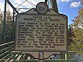 Capon Lake Whipple Truss Bridge Historical Marker Capon Lake WV 2014 10 05 07.JPG